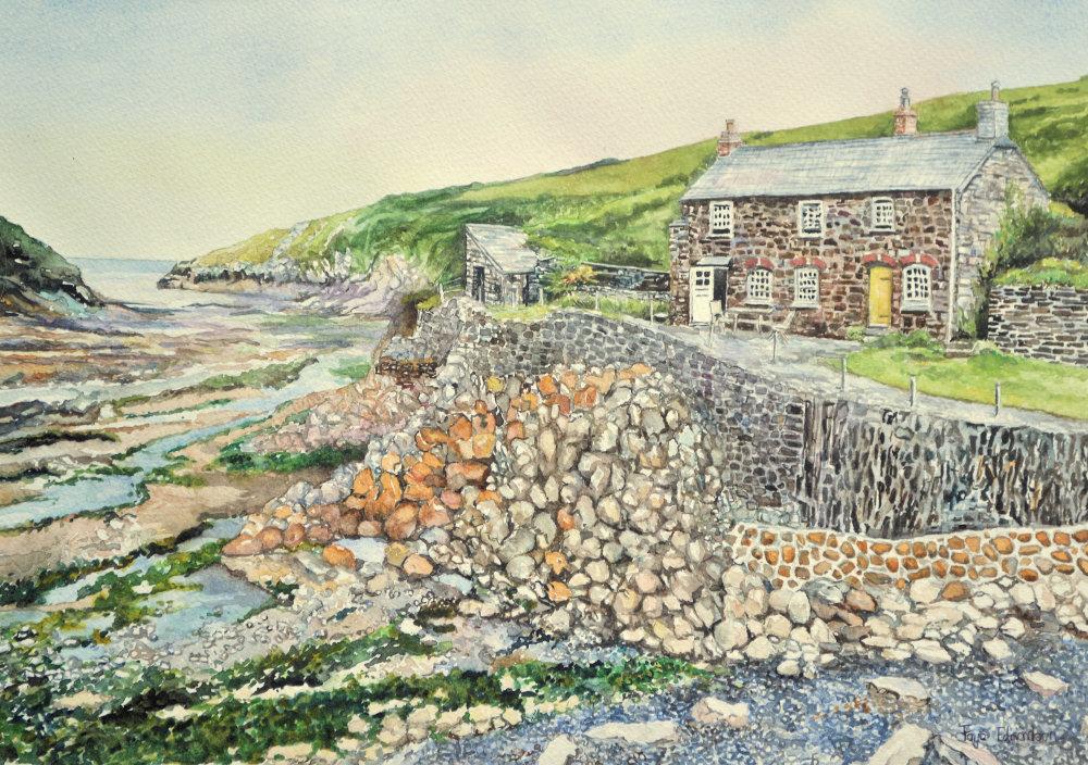 'Port Quin', by Faye Edmondson - watercolour on paper