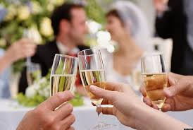 Marriage wedding champagne toast love