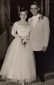 Faye & Marvin Snider wedding, circa 1954