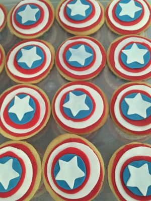 Captain America Sugar Cookies