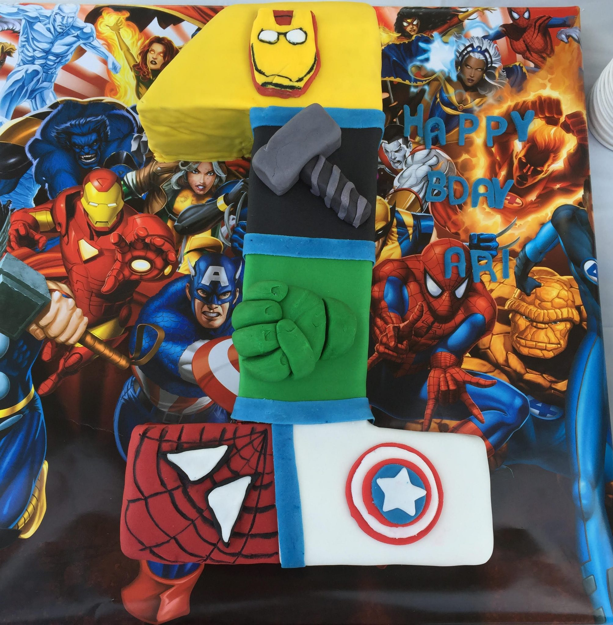 Avengers 1st Birthday Cake - Thermo Mixer Recipe