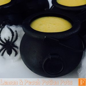 Lemon and Peach Potion Pots - Halloween Recipe For Your Thermomix