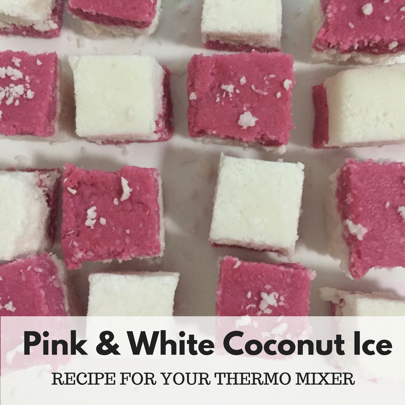 Pink and White Coconut Ice – Recipe For Your Thermomix