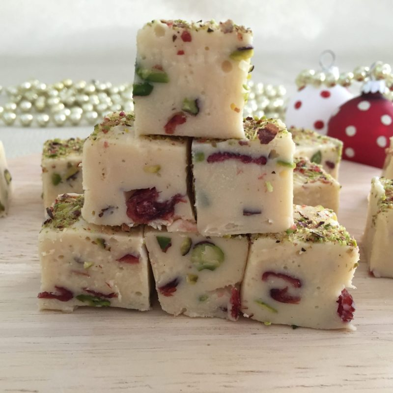 Christmas White Chocolate & Pistachio Fudge – Recipe For Your Thermomix