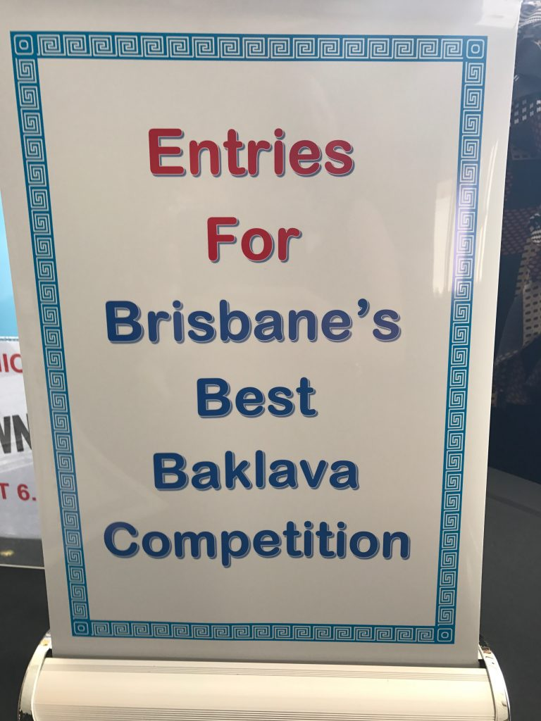 Brisbane's Best Baklava Competition
