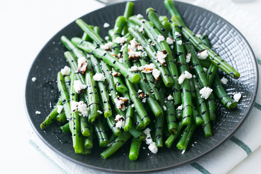 Thermomix Green Beans with Balsamic and Feta