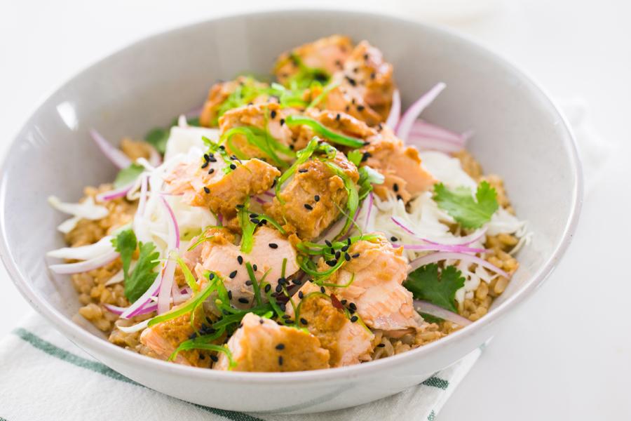 Thermomix Miso Salmon Salad