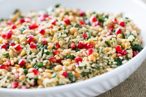 Thermomix Pomegranate Brown Rice Salad