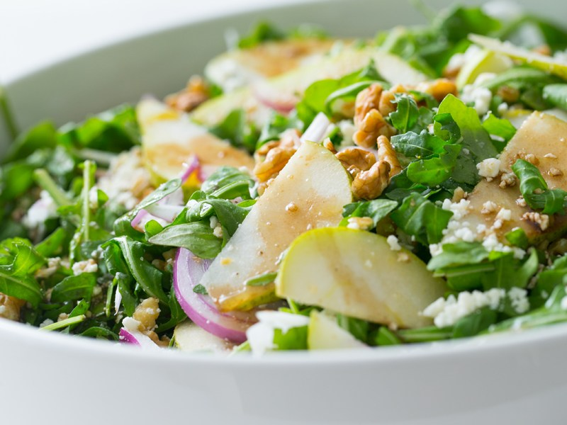 Thermomix Rocket, Pear and Feta Salad