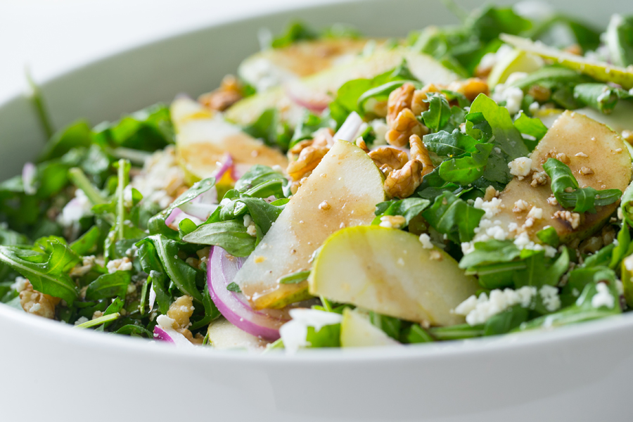 Thermomix Rocket, Pear & Feta Salad