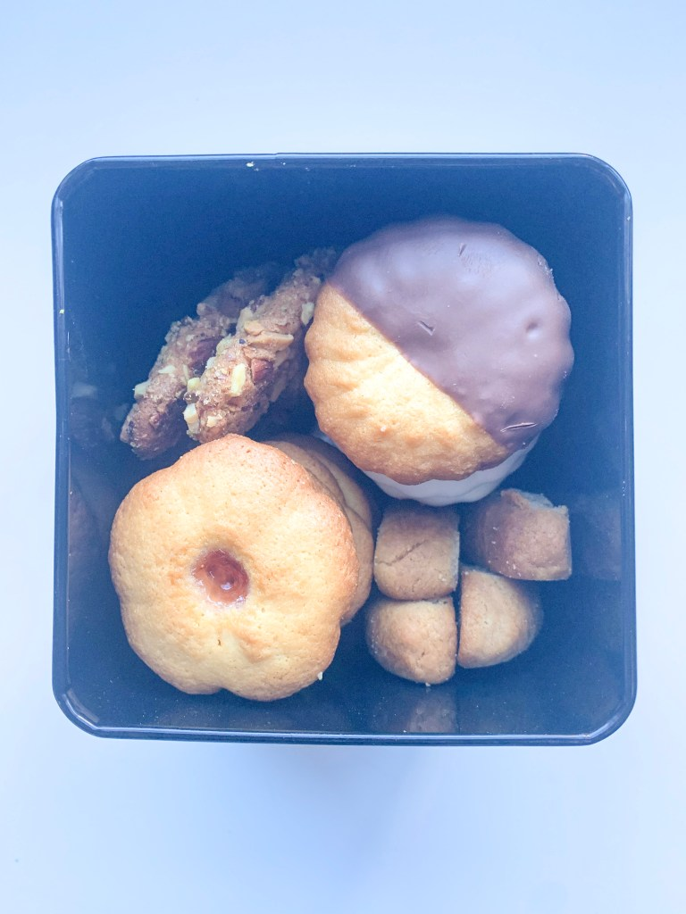 box filled with biscuits