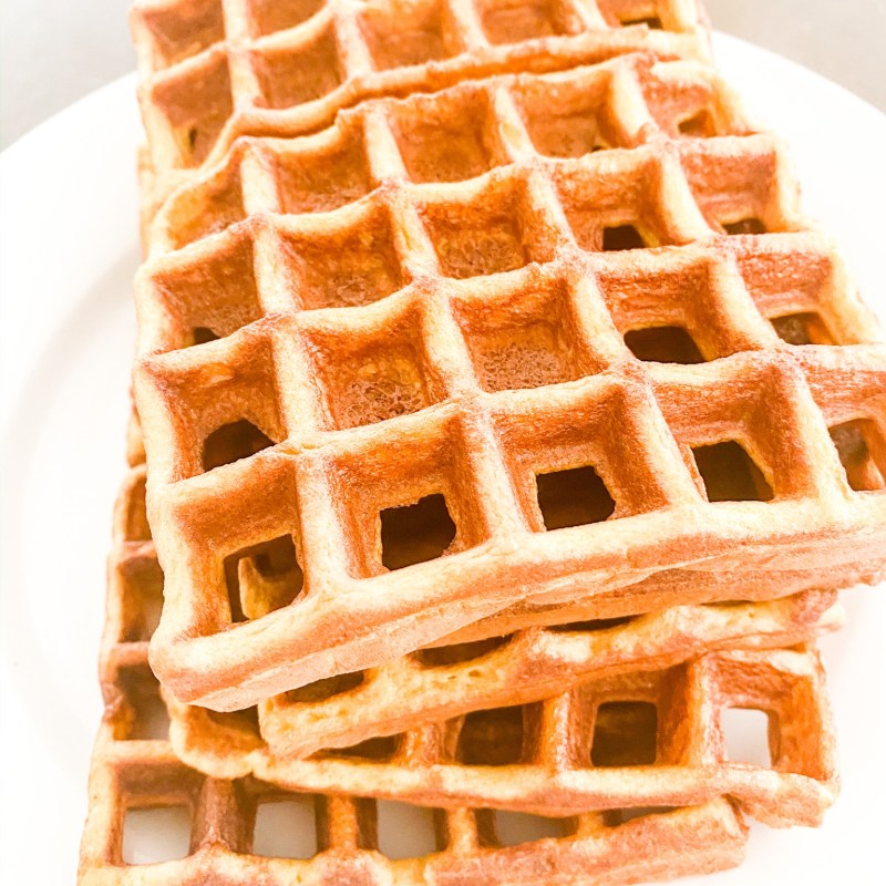 The Fastest Guilt Free Almond Flour Waffles
