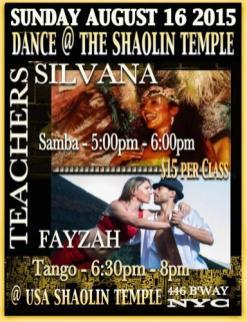 NYC Shaolin Temple - Tango Class with Fayzah