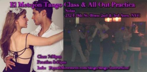 Tango instruction & practica with Fayzah, NYC