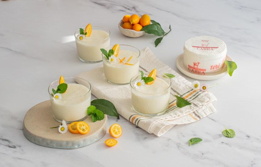 Mousse de queijo fresco e citrinos