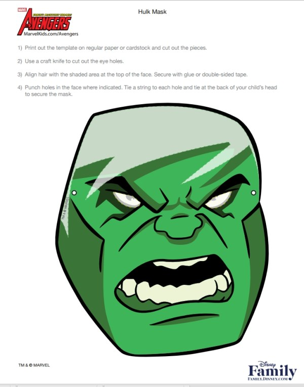 Incrivel Hulk mascara1