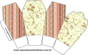 Caixa China in Box Floral Vintage: