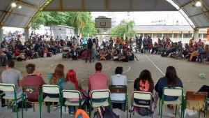 A Assembleia Estadual das Escolas Ocupadas acontece no Colégio Estadual Loureiro Fernandes, localizado no bairro Juvevê, em Curitiba / Ednubia Ghisi