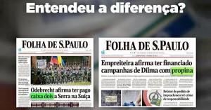 Como manipular o combate à corrupção: se for do PSDB é caixa 2, se for do PT é propina (Foto: Conversa Afiada)
