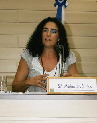 """""""XXXX"""", afirma Marina dos Santos. Foto: Rosane Nayer."""