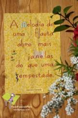 """António Torrado """"A melodia"""" [Frase proposta por Inês L., aos 9 anos] Original: cartão, cartolina e papel, impresso, recortados e colados. A4"""