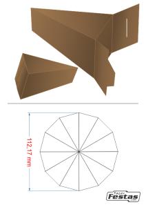 Fatia-de-Bolo-de-Papel-tampa-frente Fatia de bolo de papel com tampa na frente - Bolo Fake