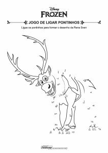 08-Jogo-de-Ligar-Pontinhos-Frozen-Sven Livrinho de atividades para festa infantil - Frozen