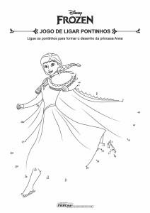 09-Jogo-de-Ligar-Pontinhos-Frozen-Anna Livrinho de atividades para festa infantil - Frozen