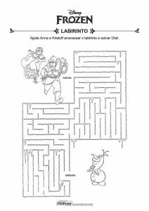 11-Labirinto-Frozen-Ana-Kristoff-e-Olaf Livrinho de atividades para festa infantil - Frozen