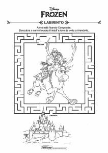 12-Labirinto-Frozen-Ana-e-Sven Livrinho de atividades para festa infantil - Frozen