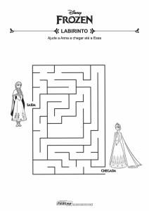 15-Labirinto-Frozen-Anna-e-Elsa Livrinho de atividades para festa infantil - Frozen