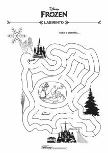 16-Labirinto-Frozen Livrinho de atividades para festa infantil - Frozen