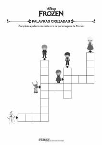 20-Palavras-Cruzadas-Frozen Livrinho de atividades para festa infantil - Frozen