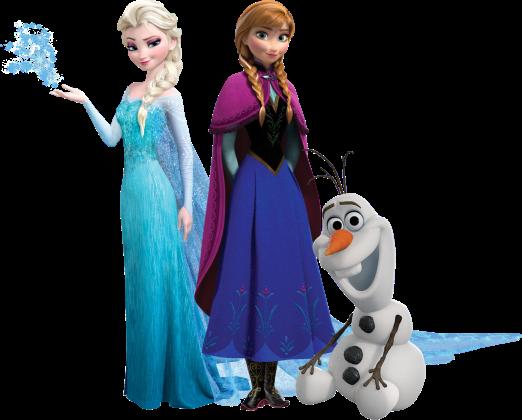 Elsa-Anna-Olaf-Frosen-sem-fundo Personagens Frozen
