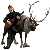 Kristoff-Sven-Frosen-sem-fundo-01 Personagens Frozen