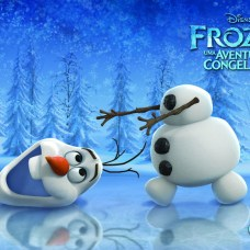Wallpapers-frozen-Olaf Papel de Parede Frozen