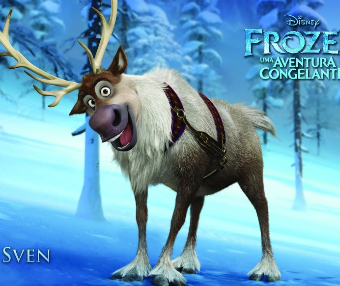 Wallpapers-frozen-sven Papel de Parede Frozen