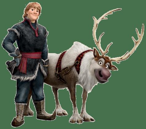 kristoff_sven Personagens Frozen