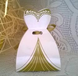 Lembrancinha-Vestido-caixa-para-festa-noiva-02 Moldes de Caixinhas Vestido - Princesas, Fadas, Noivas e Debutantes