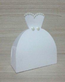 Lembrancinha-Vestido-caixa-para-festa-noiva-04 Moldes de Caixinhas Vestido - Princesas, Fadas, Noivas e Debutantes