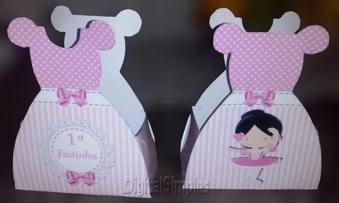 Lembrancinha-Vestido-caixa-para-festa-princesa-02-1 Moldes de Caixinhas Vestido - Princesas, Fadas, Noivas e Debutantes