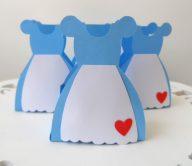 Lembrancinha-Vestido-caixa-para-festa-princesa-11 Moldes de Caixinhas Vestido - Princesas, Fadas, Noivas e Debutantes