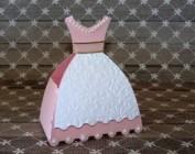 Lembrancinha-Vestido-simples-caixa-para-festa-04 Moldes de Caixinhas Vestido - Princesas, Fadas, Noivas e Debutantes