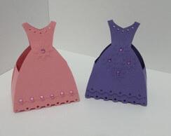 Lembrancinha-Vestido-simples-caixa-para-festa-09 Moldes de Caixinhas Vestido - Princesas, Fadas, Noivas e Debutantes