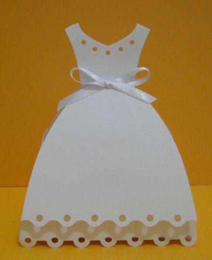 Lembrancinha-Vestido-simples-caixa-para-festa-10 Moldes de Caixinhas Vestido - Princesas, Fadas, Noivas e Debutantes