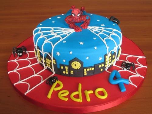 bolo-4 Homem Aranha Festa infantil