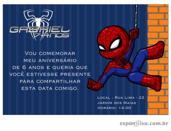 convite_homem_aranha6 Homem Aranha Festa infantil