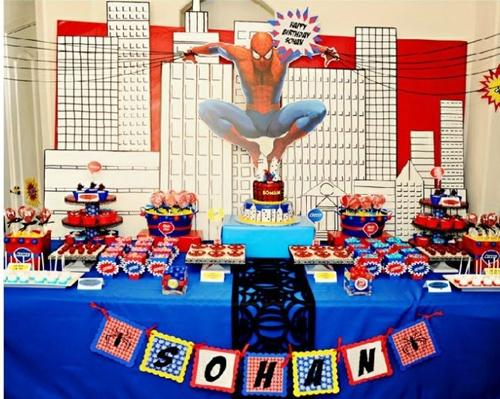 mesa-1-1 Homem Aranha Festa infantil