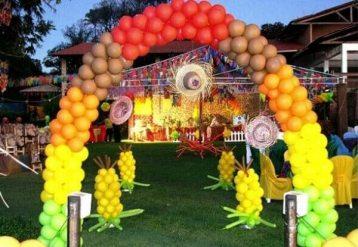Balões-tema-festa-fazendinha-04 Idéias para festa Infantil com tema Fazendinha para meninos e meninas