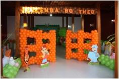 Balões-tema-festa-fazendinha-17 Idéias para festa Infantil com tema Fazendinha para meninos e meninas